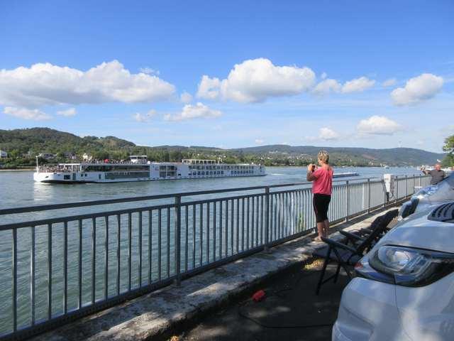Cruisebåt på Rhinen