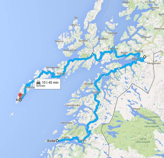 kart over reine i lofoten Bobil ferie Norge   Helgelandskysten og Lofoten kart over reine i lofoten