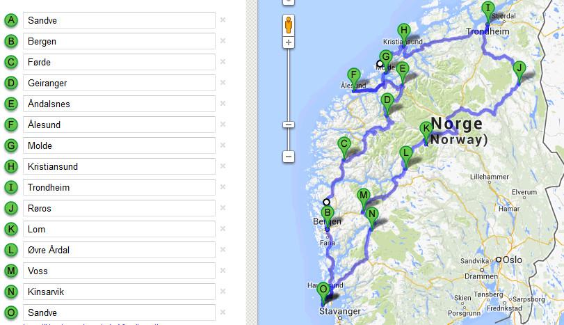 kart vestlandet norge Bobil ferie Norge   Vestlandet kart vestlandet norge