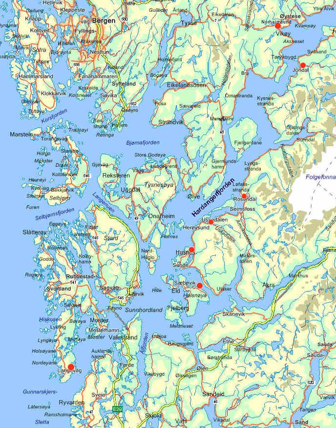 hardangerfjorden kart På båttur i Hardangerfjorden hardangerfjorden kart