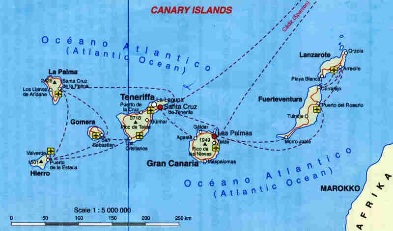 kart kanariøyene Kart Fuerteventura kart kanariøyene