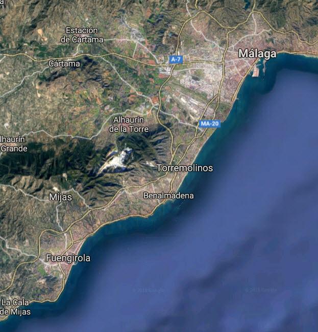 Kart over Torremolinos