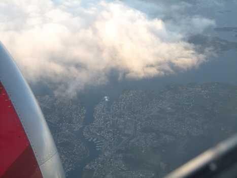 Kopervik fra flyvinduet